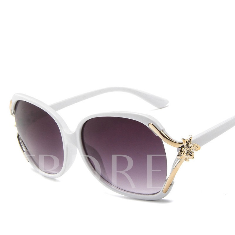 Wrap Fashion Resin Lens Square Sunglasses
