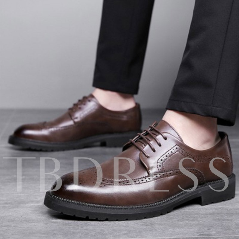 Plain Low-Cut Upper PU Leather Prom Shoes for Men