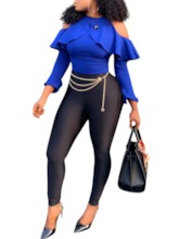 Color Block Sexy Full Length Patchwork Skinny Women's Jumpsuit
