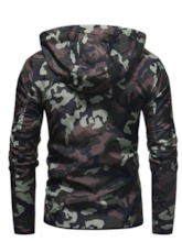Camouflage Hooded Print Slim Men's Jacket
