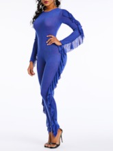 Sexy Full Length Plain High-Waist Women's Jumpsuit
