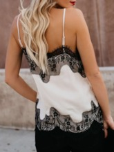 Lace Patchwork Backless Summer Women's Tank Top