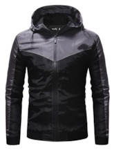 Hooded Color Block Patchwork Casual Men's Jacket