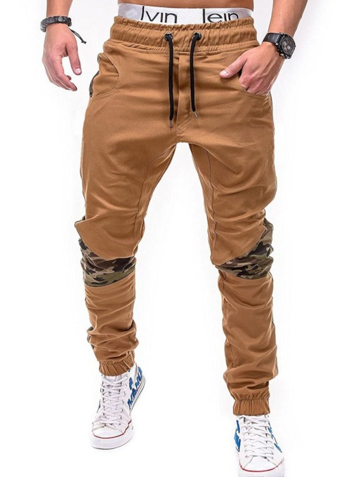 Straight Print Camouflage Mid-Waist Men's Casual Pants