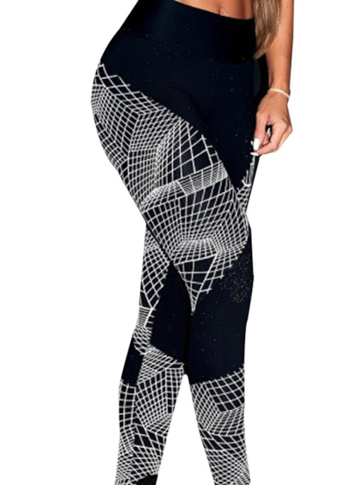 Women's Geometric Print Breathable Yoga Leggings
