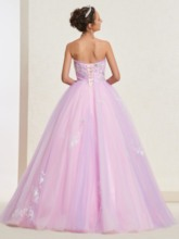 Sleeveless Ball Gown Appliques Floor-Length Quinceanera Dress 2019