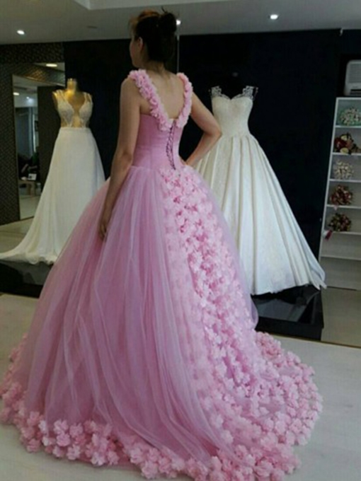 Floor-Length Sleeveless Straps Ball Gown Quinceanera Dress 2019