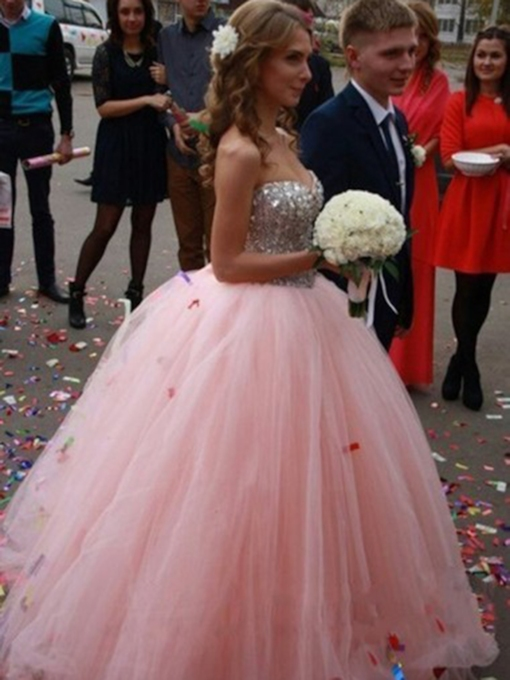 Floor-Length Sweetheart Ball Gown Beading Quinceanera Dress 2019