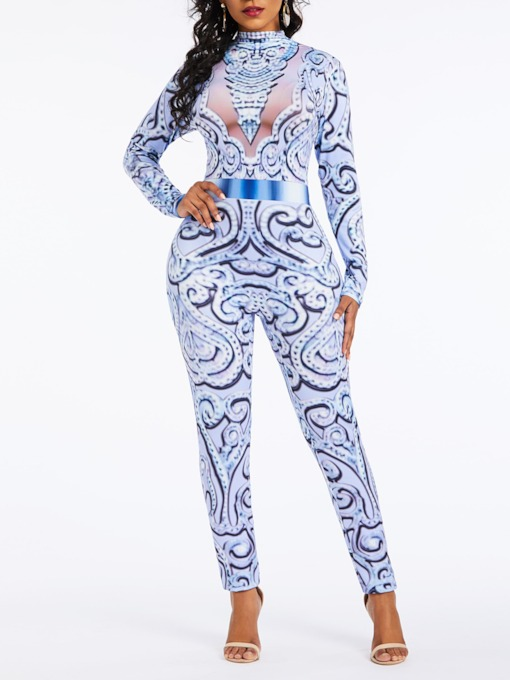Print Sexy Full Length Slim Women's Jumpsuit