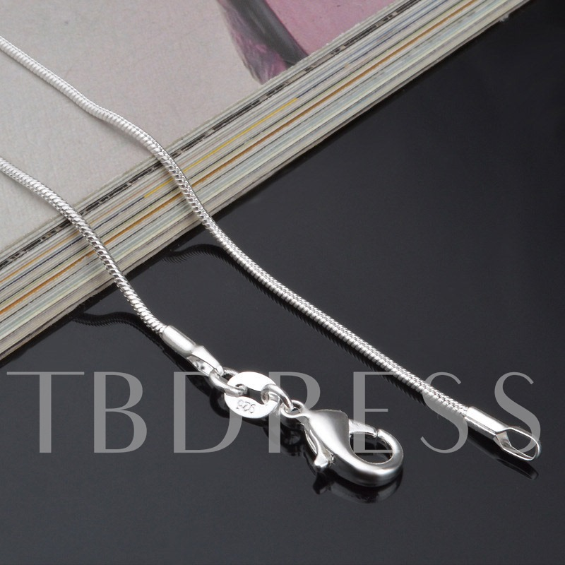 Plain Snake Chain E-Plating Men's Necklace