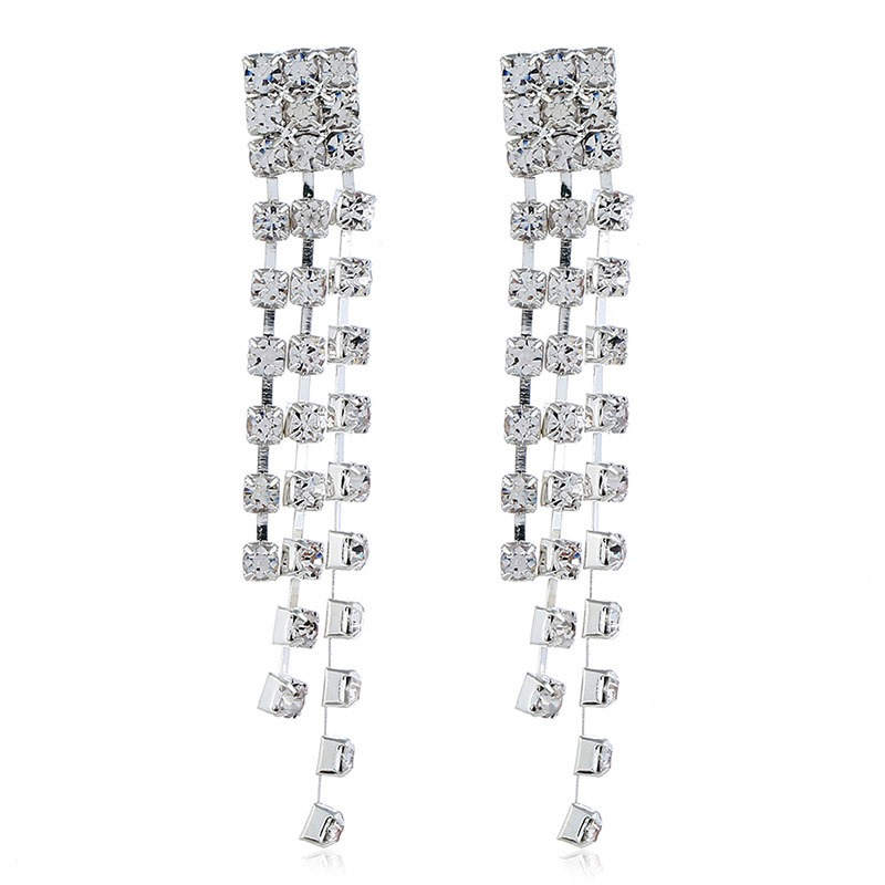 Sweet Diamante Wings Shape 2 Pcs Jewelry Sets