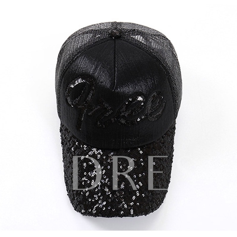 Cotton Sewing Thread Letter Decorated Baseball Cap