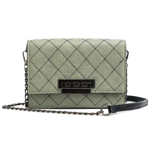 Quilted Lining Plaid PU Square Crossbody Bags