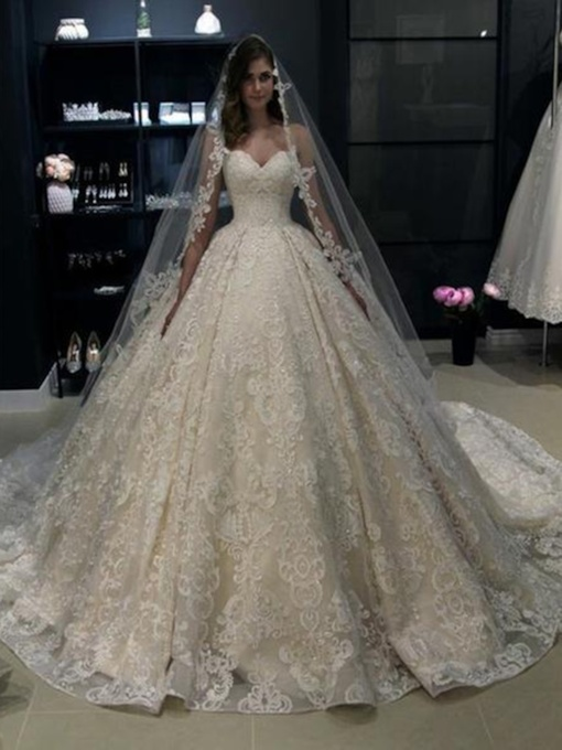Ball Gown Sweetheart Lace Wedding Dress 2019