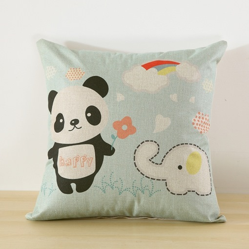 Cartoon Backrest Lumbar Pillow Cushion Quilt Cute Throw Pillow