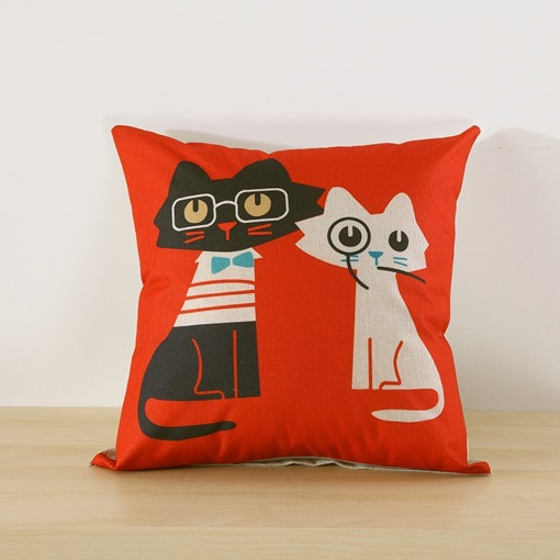 Cartoon Backrest Cute Lumbar Pillow Cushion Quilt Throw Pillow