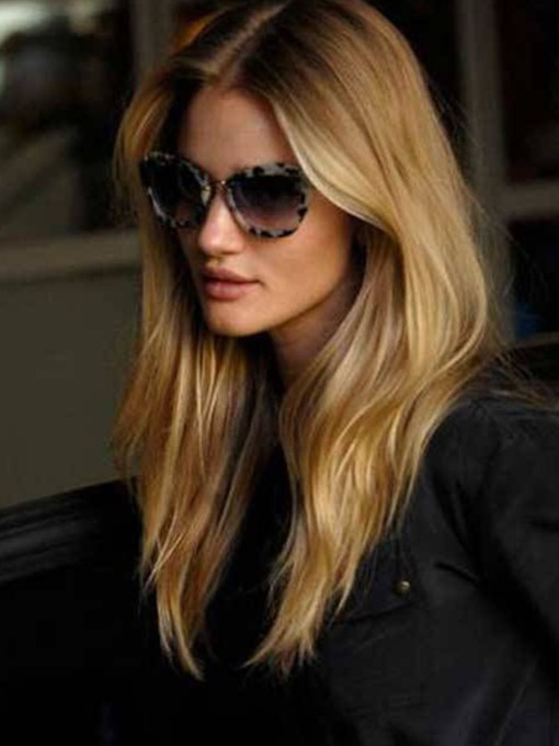 Fashion Women Long Straight Synthetic Hair Capless Wigs 22 Inches