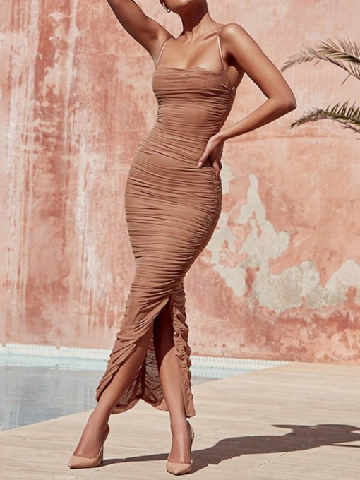 Sleeveless Split Bodycon Women's Maxi Dress