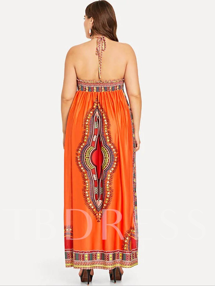 Sleeveless V-Neck Backless A-Line Women's Maxi Dress