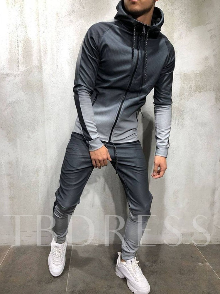 Gradient Pants Lace-Up Casual Men's Outfit