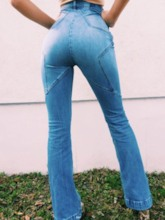 Patchwork Star Slim Women's Jeans