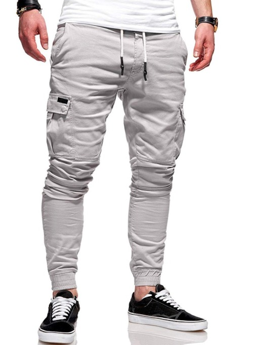 Pocket Plain Summer Men's Casual Pants