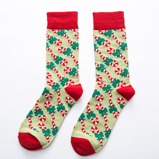 Christmas Mid-Calf Length Cartoon Adult Socks