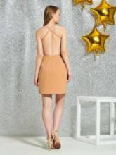 Sleeveless Sheath V-Neck Short Cocktail Dress 2019
