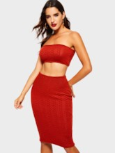 Plain Vest Sexy Bodycon Women's Two Piece Sets