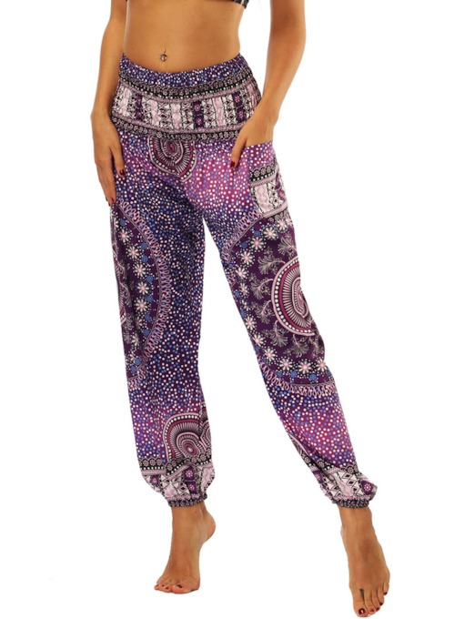 Dashiki Loose Print Women's Bloom Pants