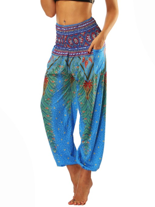 Dashiki Print Loose Belly Dance Pants