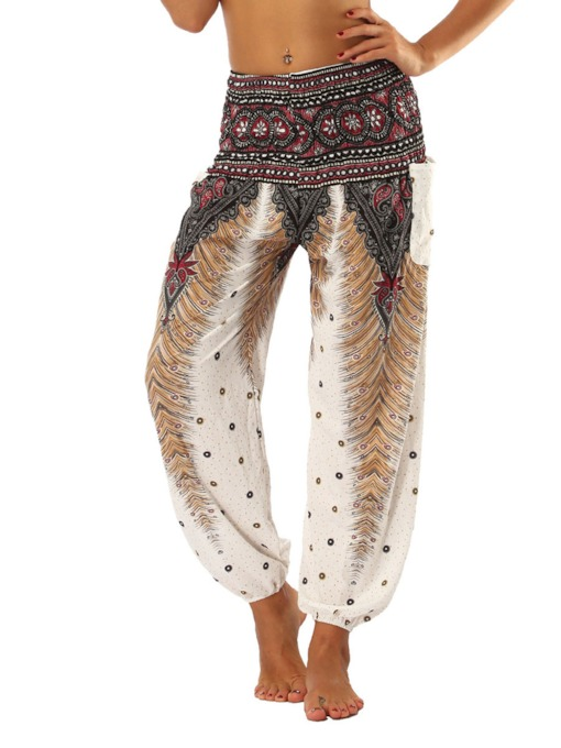 Dashiki Loose Geometric Women's Bloom Pants