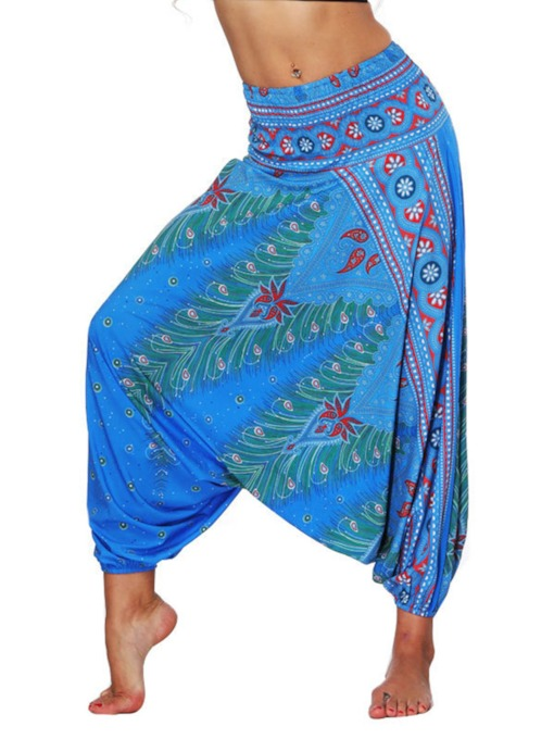 Dashiki Print Low Crotch Sports Bloomers