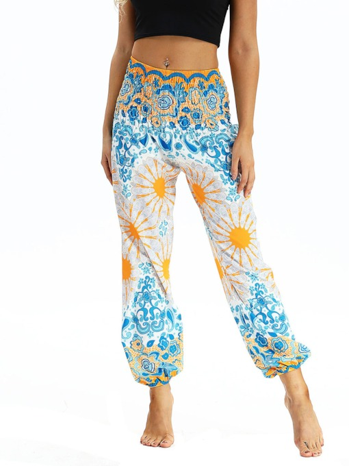 Dashiki Belly Dance Flower Casual Loose Pants