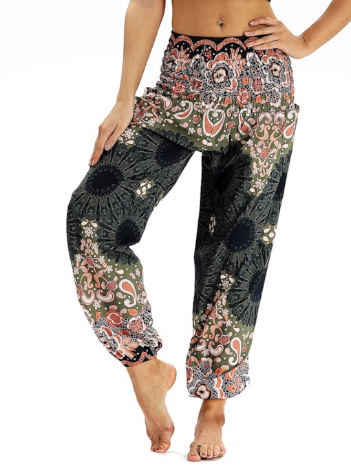 Belly Dance Beach Dashiki Flower Casual Loose Pants