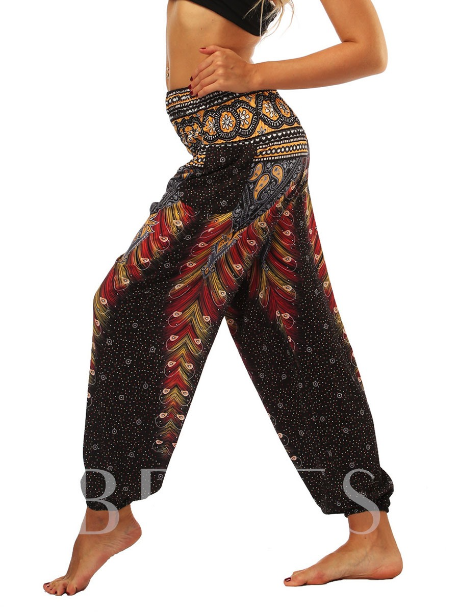 Geometric Print Women's Harem Pants