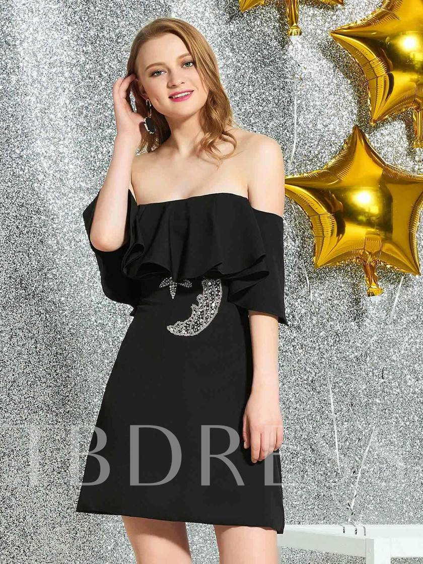 Sleeveless Strapless Short Sequins Cocktail Dress 2019