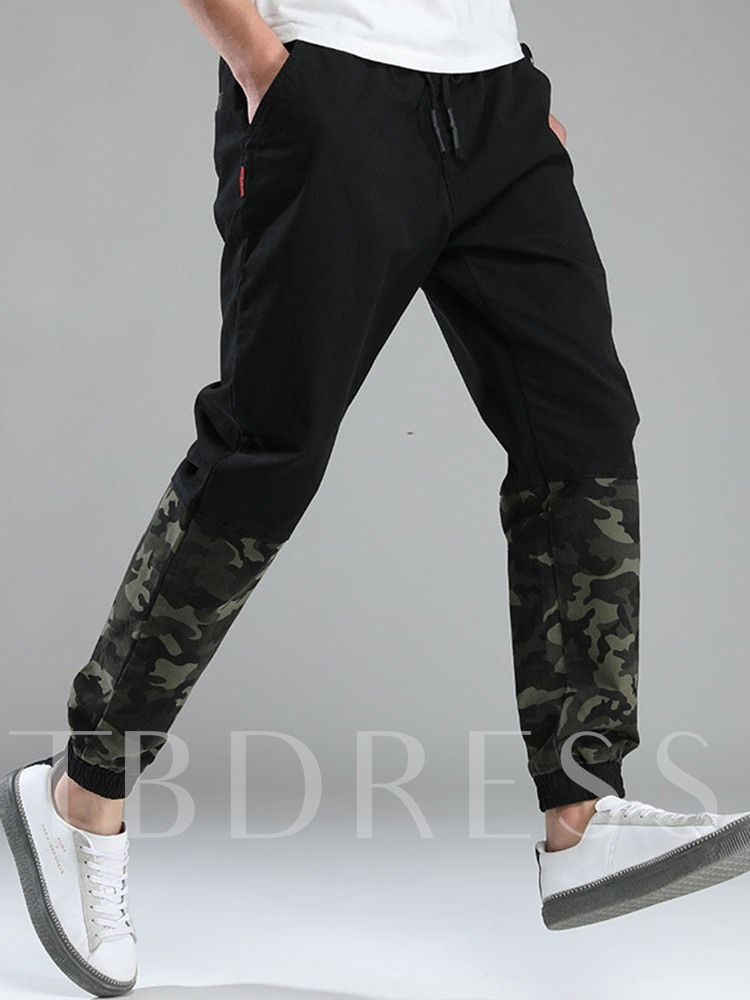 Camouflage Patchwork Men's Casual Pants