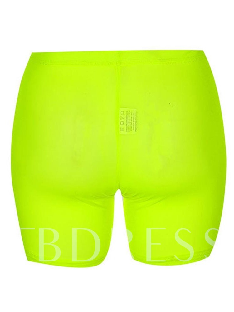 Mid Waist Skinny Neon Cycling Shorts