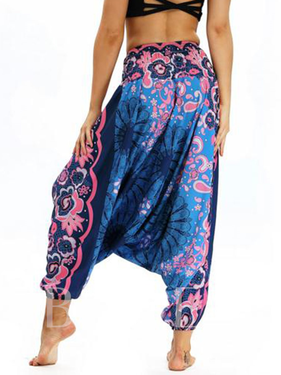 Print Low Crotch Pants Sports Bloomers
