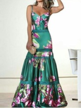 Floral Print Sleeveless Pullover Women's Maxi Dress