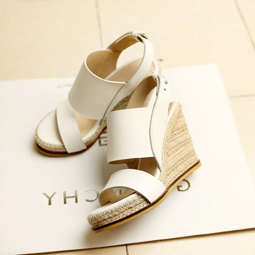 Slip-On Open Toe Wedge Heel Platform Women's Sandals
