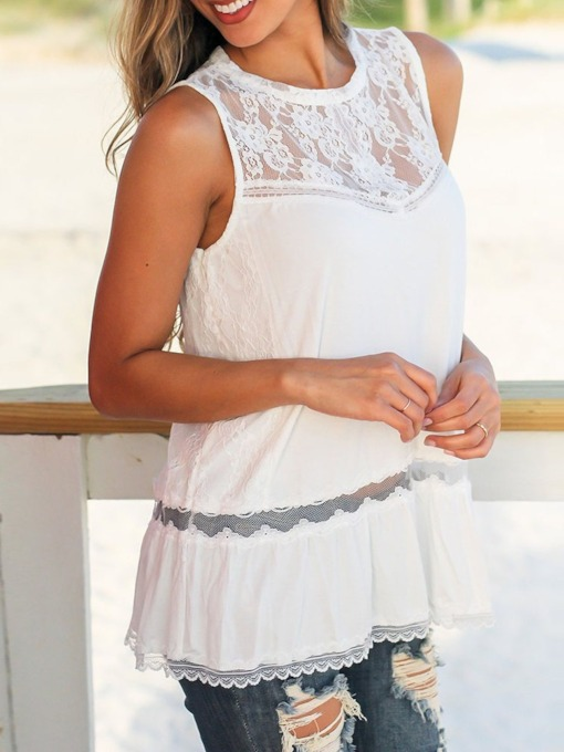 Lace Summer Mid-Length Women's Tank Top