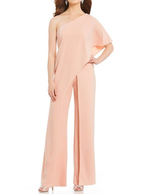 Full Length Plain Casual Loose Women's Jumpsuit