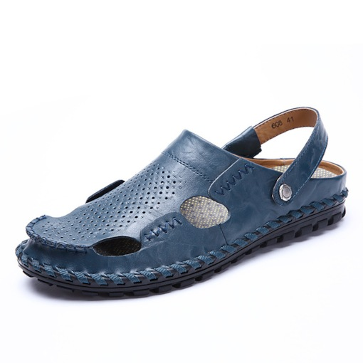 Plain Low-Cut Upper Flat Heel Slip-On Thread Men's Sandals