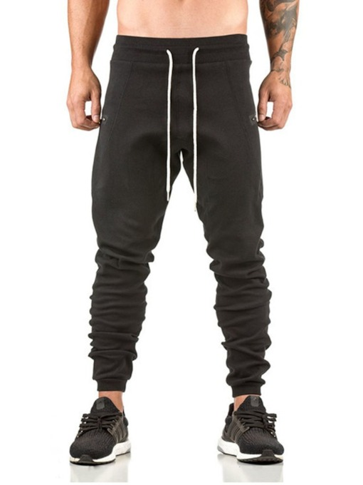 Plain Lace-Up Men's Joggers & Sweatpants