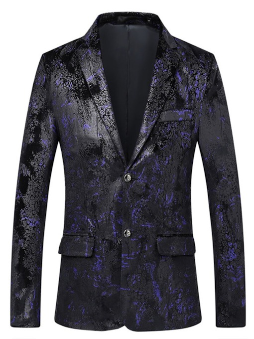 Floral Casual Single-Breasted Slim Men's leisure Suit