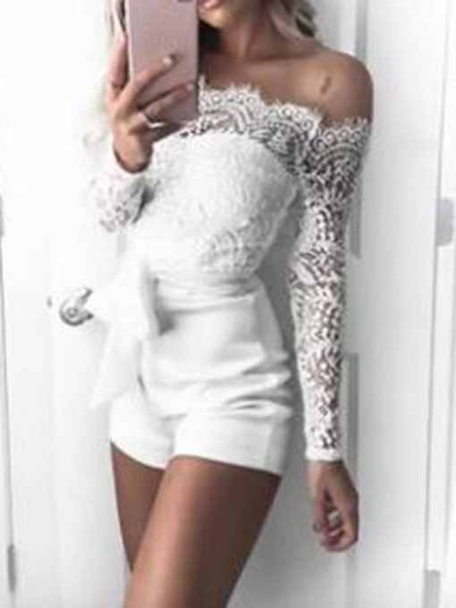 Floral Shorts Casual Lace Skinny Women's Romper