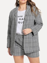 Coat Date Night Plaid Pullover Women's Two Piece Sets