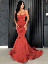 Spaghetti Straps Mermaid Evening Dress 2019